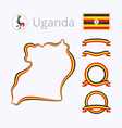 Colors of Uganda vector image