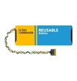 Computer batterie icon isolated vector image