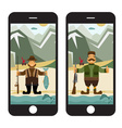 Concept flat design with fisherman and hunter in vector image vector image