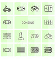 console icons vector image vector image