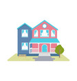 cozy cottage vector image vector image