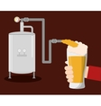 craft beer hand hold glass vector image vector image