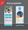 creative rollup banner design template vector image