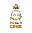 Cute chicken drawing vector image