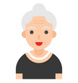 elderly woman avatar flat icon vector image vector image