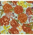 Floral Seamless Pattern with Peonies in Vintage vector image vector image