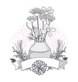 flowers in jar glass vector image vector image