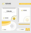 fry egg logo calendar template cd cover diary and vector image vector image