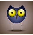 funny cute bird owl big eyes looks vector image vector image