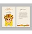 Girl autumn card vector image