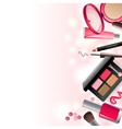 Glamorous make-up background vector image vector image