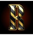 golden and black letter r vector image