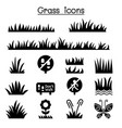 grass icon set vector image