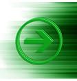 green arrow for web vector image vector image