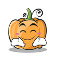 happy face pumpkin character cartoon style vector image vector image