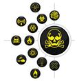 Hazard warning vector image vector image