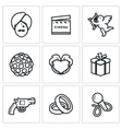 Indian cinema icons set vector image vector image