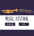 jazz music festival or concert web template vector image vector image