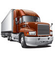 large delivery truck vector image