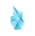 light blue mineral crystal gem precious vector image