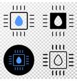 liquid processor eps icon with contour vector image