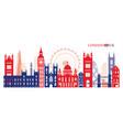 london england and united kingdom landmarks vector image vector image