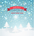 magical Merry Christmas Landscape vector image vector image