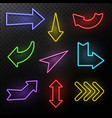 neon arrows electric light direction arrow shapes vector image vector image