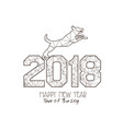 new years 2018 polygonal line background year of vector image vector image