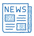 news newspaper doodle icon hand drawn vector image vector image