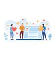 online social network concept between friends vector image vector image