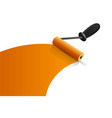 orange paintbrush roller vector image