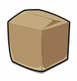 Paper box cartoon vector image