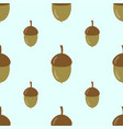 pattern with acorns vector image vector image