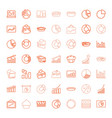 pie icons vector image vector image