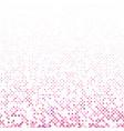 pink geometrical circle pattern - snowfall vector image vector image