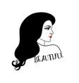 portrait a beautiful woman vector image