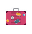 Red travel suitcase isolated icon