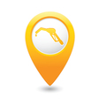 refuelling icon yellow map pointer vector image vector image