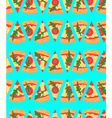 Seamless pattern with pizza margherita slices vector image vector image