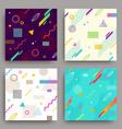 set abstract avangarde retro background vector image vector image