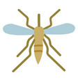 simple of mosquito on white background vector image vector image
