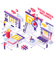 smm promotion isometric concept vector image