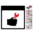 Spanner Service Hand Calendar Page Flat vector image vector image