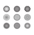 spiral and swirl motion twisting circles design vector image vector image
