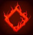square of red fire with sparks procedural vector image