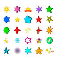 star icon set cartoon style vector image