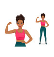 strong sport woman vector image vector image