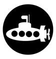Submarine button vector image vector image