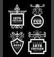 tavern sign metal frame with curly elements vector image vector image